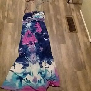 Cynthia Rowley halter top maxi dress